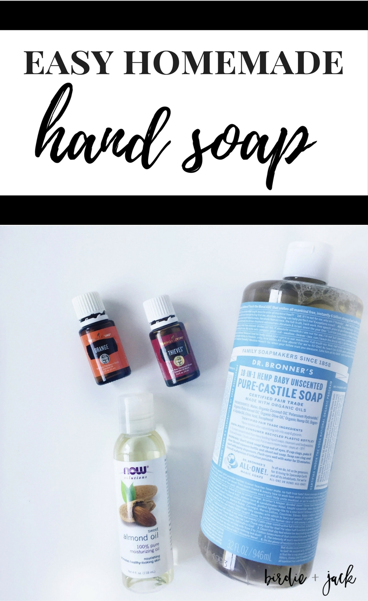 Create a simple non-toxic hand soap with just a few ingredients.